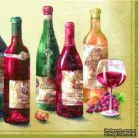 "Салфетка для декупажа ""Вино.Grand Cru"", размер:25х25см"