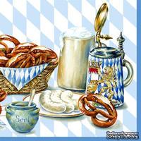 """Салфетка для декупажа """"Королевский завтрак"""", размер: 33х33 см"""