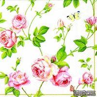 """Салфетка """"Плетение ветвей и розы"""", размер: 33х33 см, 1 шт."""