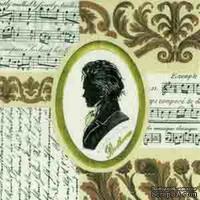 """Салфетка """"Симфония. Бетховен"""", размер: 33х33 см, 1 шт."""