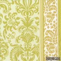 """Салфетка для декупажа """"Королевский узор"""", цвет фона: кремовый, размер: 33х33 см"""
