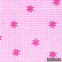 "Салфетка для декупажа ""Английский винтаж"", цвет фона: розовый, размер: 33х33 см"
