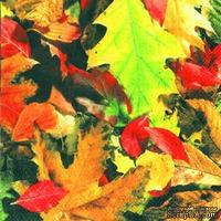 "Салфетка для декупажа ""Осенняя листва"", размер: 33х33 см"