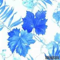"""Салфетка для декупажа """"Синие виноградные листья"""", размер: 33х33 см"""