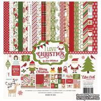 Набор бумаги от Echo Park - I Love Christmas, 12+2 листа, 30х30 см