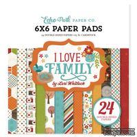 Набор бумаги от Echo Park — I Love Family, 15х15см