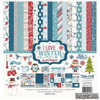 Набор бумаги от Echo Park - I Love Winter, 12+2 листа, 30х30 см