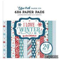 Набор бумаги от Echo Park - I Love Winter, 15х15см
