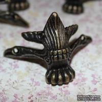 Ножки-уголки для шкатулок металлические, 65х45мм, 4 детали