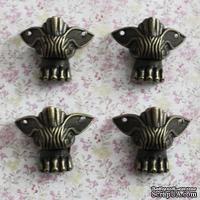 Ножки-уголки для шкатулок металлические, 4 детали