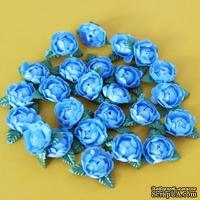 Цветочки пиона, цвет синий, 1 шт.