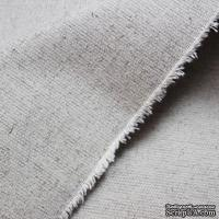 Ткань плотная,  лен+хлопок, цвет натуральный светло-серый, 47х72 см
