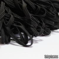 Резинка для блокнота, цвет черный, узкая, эластичная, ширина 3 мм, 1 м