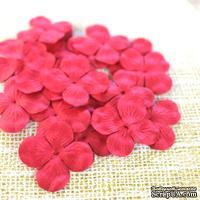 Гортензия, цвет: красный, 2,5 см, 20 шт.
