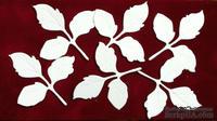 """Набор высечек """"Листики розы"""",  6 шт."""