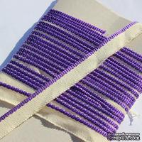 Каптал, с фиолетовой кромкой, ширина 12 мм,  длина 50 см