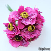 Цветок мака, темно-розовый, 1 шт.