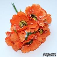 Цветок мака, оранжевый, 1 шт.