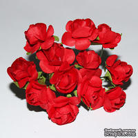 Розочки красные, 15 мм, 12 штук