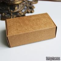 Крафт-коробочка упаковочная, картон плотностью 380 мг, 9,4х5,7х3 см