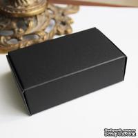 Коробочка упаковочная, картон плотностью 380 мг, 9,4х5,7х3 см черная, 1 шт.