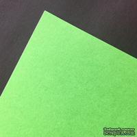Двусторонний лист бумаги Hyacint, цвет зеленый, размер А4, 110гр/м.кв