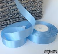 Атласная лента Skyblue, цвет голубой, ширина 20 мм, длина 90 см