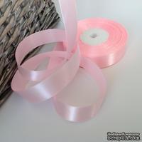Атласная лента розовая, ширина 20 мм, длина 90 см