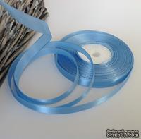 Атласная лента Skyblue, цвет голубой, ширина 10 мм, длина 90 см