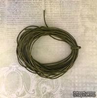 Вощеный шнур, оливковый, 0,7 мм, 5 метров
