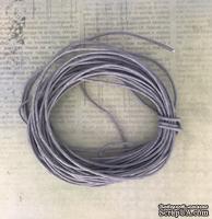Вощеный шнур, серый, 0,7 мм, 5 метров