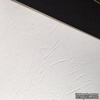 Картон с тиснением под кожу, цвет белый, 300гр/м2, 30х30см