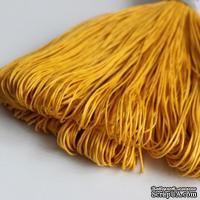 Вощеный шнур, 1 мм, цвет желто-горячий, 5 метров
