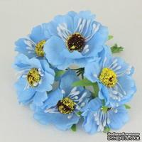 Цветок мака, голубой, 1 шт.