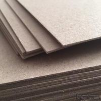 Лист переплетного картона, цвет серый,  толщина 2 мм, 1 шт.
