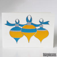 """Набор для создания новогодней открытки """"Жовто-блакинта"""""""