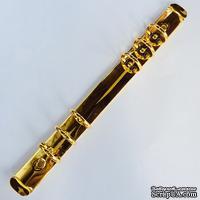 Кольцевой механизм на 6 колец диаметром 20 мм, длина механизма - 220 мм, цвет золотой, крепежи в наборе