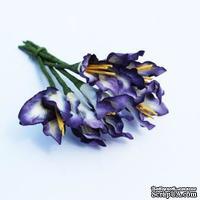Декоративные цветочки, цвет фиолетовый, 6 шт.