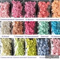 Плоские цветочки - 5 загостренных лепестков, диаметр 13-15 мм, цвет на выбор, 50 шт.