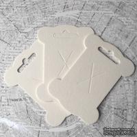 Шпулька белая, пивной картон, 1 шт. 10,8х8 см