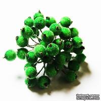 Ягодки в обсыпке, цвет зеленый, 30 шт.