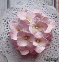 Гортензии из фоамирана,  диаметр 35 мм, цвет розовый, 5 шт.