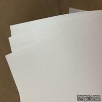 Дизайнерская бумага односторонняя, перламутровый белый,  21х29см, 120гр/м.кв