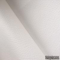 Экокожа, цвет белый, толщина 0.6 мм, 50Х70 см - ScrapUA.com