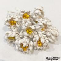 Фантазийный цветок, цвет белый, 1 шт., диаметр 15-17 мм