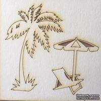 Чипборд от Вензелик - Набор пляжный 01, размер:  57x84 мм