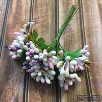 Веточки с ягодками, цвет белый, сиреневый, 12 штук