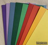 Набор полосок картона Brights - яркие, 10х30 см, 9 шт.