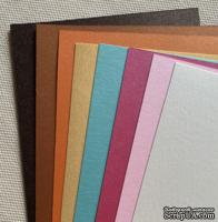 Набор полосок металлизированного картона Metallic 12х30 см, 8 шт. - ScrapUA.com