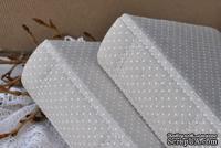 Альбом от Светланы Ковтун в классическом переплете с тканевым покрытием, лен горошек, 15х15 см, 5 разворотов, расст. 7 мм